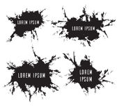 Set grunge frames with scuffed, vector elements. For your design Royalty Free Stock Photography