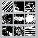 Set Grunge Geometryczne broszurki karty i ilustracji