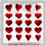 Set  grunge hearts. Vector illustration. Abstract grunge design elements Royalty Free Stock Photo