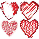 Set of grunge hearts. Vector illustration Royalty Free Stock Photo