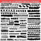 Set grunge i ornamentacyjny różny muśnięcie Obrazy Stock