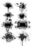 Set of grunge  illustrations. Set of design elements. Use in musical posters Stock Photos
