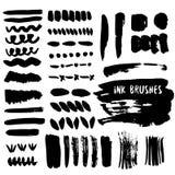 Set of grunge ink brush strokes. Vector design Royalty Free Stock Photo