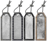 Set of Grunge Metal Tags - 4 items Stock Photo