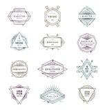 Set grunge modnisia emblematy i znaki Obrazy Stock