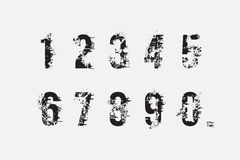 Set of grunge numbers. Vector EPS 10 Royalty Free Stock Photos
