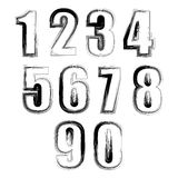 Set of Grunge Numbers Royalty Free Stock Image