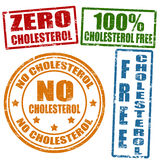 No cholesterol stamps. Set of grunge office rubber stamps with  no cholesterol, vector illustration Royalty Free Stock Images