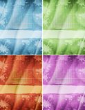 Set of grunge old paper background Royalty Free Stock Images
