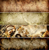 Set of grunge old paper banners. Raster artwork Royalty Free Stock Photos