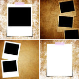 Set of Grunge paper and photo background.  Stock Photo
