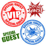 Special guest stamps Royalty Free Stock Images
