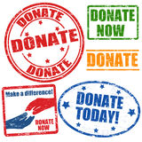 Set of donate stamps Royalty Free Stock Image