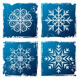 Set grunge snowflake Royalty Free Stock Photo