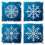 Set grunge snowflake Royalty Free Stock Photo