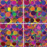 Set of grunge stained colorful backgrounds Stock Photography