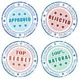 Set of grunge stamp prints Stock Images