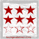 Set  grunge stars. Vector illustration. Grunge abstract design elements Royalty Free Stock Photo