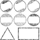 Set of 8 grunge style rubber stamps templates Stock Photos