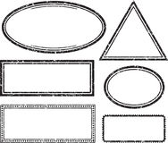 Set of grunge templates for rubber stamps.  Royalty Free Stock Photo