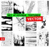 Set of grunge textures Royalty Free Stock Photo