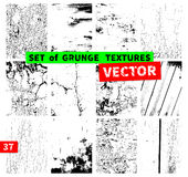 Set of grunge textures Stock Images