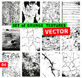 Set of grunge textures Royalty Free Stock Photography