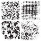 Set of grunge textures Stock Photos