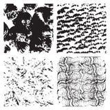 Set of grunge textures Stock Image
