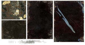 Tintype backgrounds. A set of grunge tintype backgrounds stock image