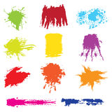 Set of grunge vector. Set of different colors and grunge vector - brushes Royalty Free Stock Images