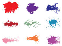 Set of grunge vector. Set of different color grunge vector. brushes Stock Images