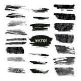 Set of grunge vector and ink strokes. Abstract design elements collection. Hand drawn smears Stock Photography