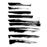 Set of grunge vector and ink strokes Royalty Free Stock Images