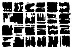 Set of grunge vector rectangular shapes. Vector banners. Abstract shapes. Big pack. Grunge art. Retro background. Vintage backgrou Royalty Free Stock Images