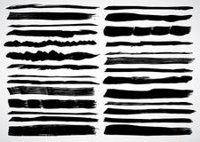 A set of grunge vector strokes Stock Photo