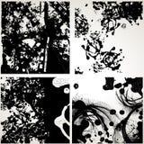 Set of grunge vector textures Stock Image