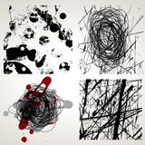 Set of grunge vector textures Royalty Free Stock Images