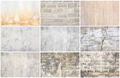Set of grunge wall background and texture Stock Photo