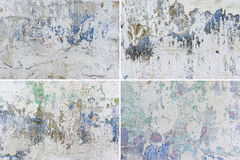 Set of grunge wall backgrounds Stock Photography