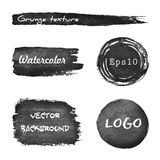 Set of grunge watercolor hand drawn background Stock Photography