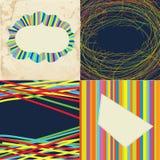 Set of grunge whimsical frames - bright design Royalty Free Stock Images