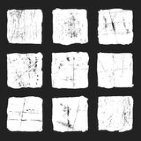 Set grunge white square on a black background Stock Images