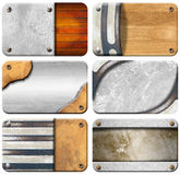 Set of Grungy Business Cards Backgrounds Stock Photo