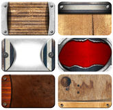 Set of Grungy Business Cards Backgrounds Royalty Free Stock Photography