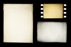 Set of grungy different film frames Stock Image