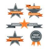 Set of guarantee badges. With retro vintage style Stock Photo