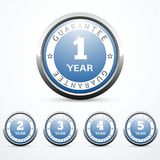 Set of guarantee badges. Vector illustration eps 10 Royalty Free Stock Image