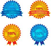 Set of  guarantee labels Stock Image