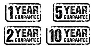 Set of guarantee stamps. A set of guarantee stamps Royalty Free Stock Images